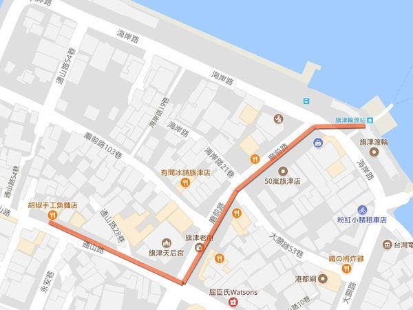 魚麵位置地圖