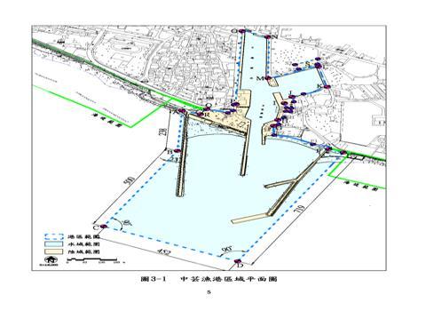 中芸漁港平面圖