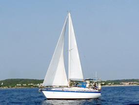 西子灣至後壁湖航行訓練,途經小琉球一景