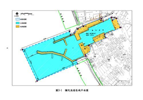 彌陀漁港平面圖