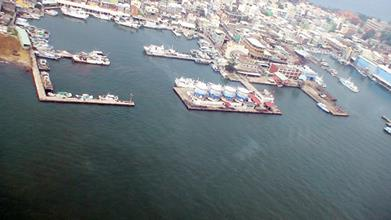 中洲漁港空照圖