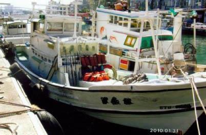 CT0:漁船噸數為5噸以下