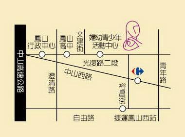 中心簡要地圖