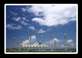 旗津風車公園上的風力發電風車