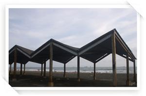 旗津海水浴場休憩遮陽區