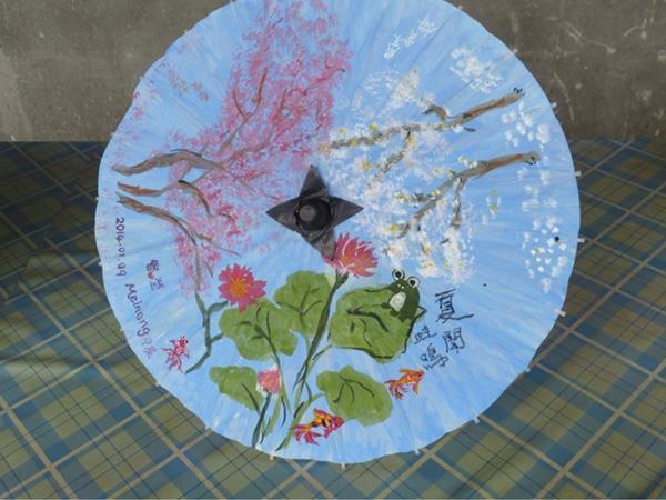 紙傘彩繪成果品展示